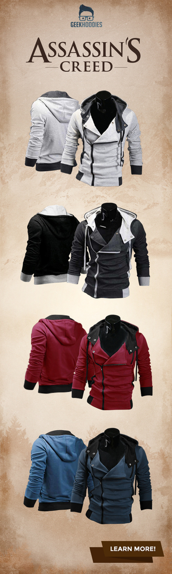 Assassin's Creed III #assassins #geek #menswear Shop for more awesome hoodies here: geekhoodies.com/