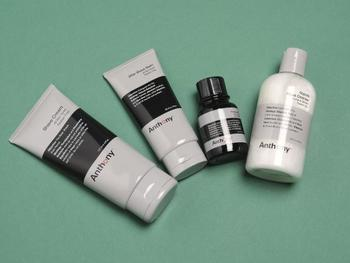 Anthony Logistics For Men The Perfect Shave Kit: Cleanser + Pre-Shave Oil + Shave Cream + After Shave Cream + Bag - 4pcs+1bag
