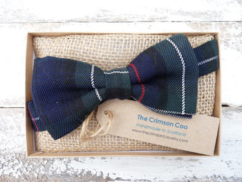Tartan Bow Tie, Scottish Gift, Mens Gift, Wedding Tie, Handmade, Plaid Tie, Party Bowtie navy bow tie mens tie mens bowtie green tie