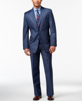 Calvin Klein Blue Slim-Fit Suit Separates