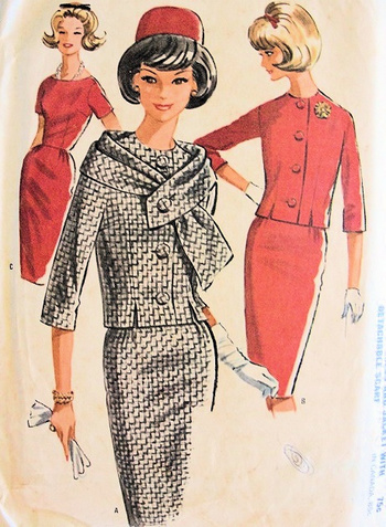 Vintage McCalls pattern...1962. Very Jackie O-inspired. Wish I could sew!
