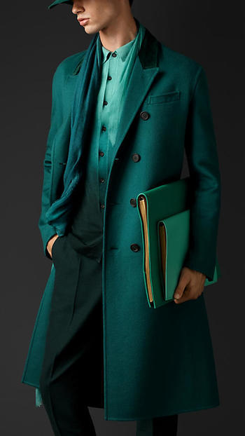 Double Cashmere Chesterfield with Velvet Collar | Burberry