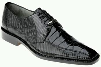Belvedere Exotic -- Black Alligator Shoe