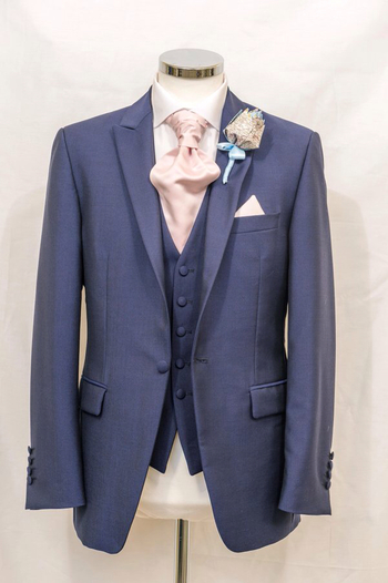 New Wilvorst slate blue lounge suit