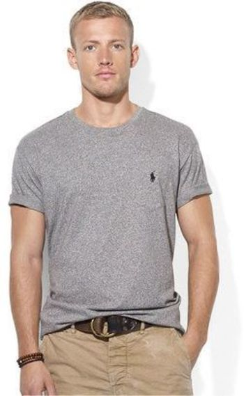 Polo Ralph Lauren Classic Crew Neck T-Shirts 1-Pack, M, Gray
