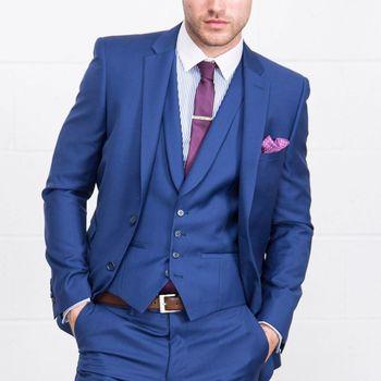 ONESIX5IVE Three Piece Slim Fit Blue Suit