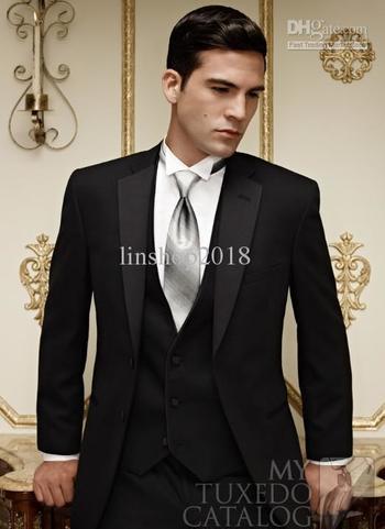 Wholesale - Groom Tuxedos Best Suit Wedding Groomsman Men Suits Jacket+Pants+Tie+shirt+vest AK-0111 Online with $92.15/Piece on Elegantdresses's Store   DHgate.com