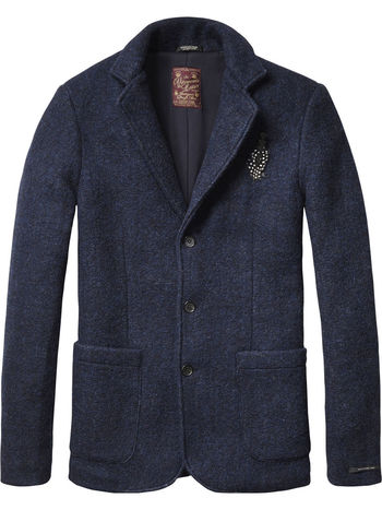 Basic Knitted Blazer  - Scotch & Soda