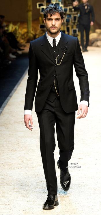 Dolce & Gabbana FW2016 Menswear Fashion  