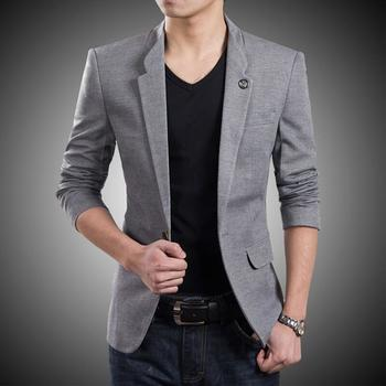 Aliexpress.com : Buy 2015 New Korean Fashion Mens Blazer Jackets Casual Slim Fit One Button Cool Men's Suits Jacket For Spring Black Blue Grey M 4XL from Reliable jacket potato suppliers on E-Express  | Alibaba Group