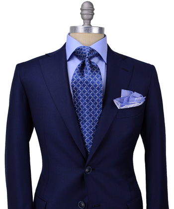 Navy Glen Plaid Suit